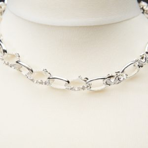 Chunky textured quince Sterling silver handmade belcher chain