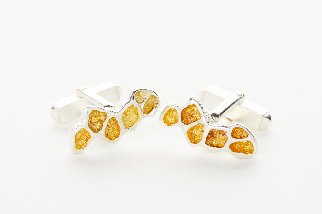 Cufflinks with Gold Highlights