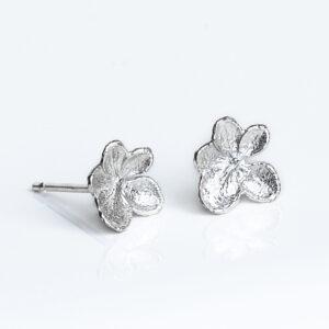 Handmade Sterling Silver Hydrangea Earrings