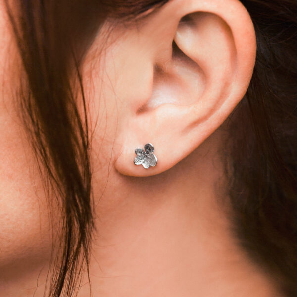 Handmade Sterling Silver Hydranger Earrings
