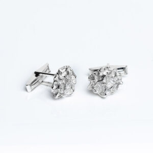 Sterling silver handmade Quince textured Cufflinks