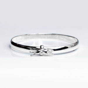 Sterling Silver Hound Bangle