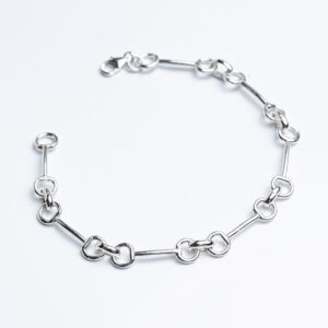 Sterling silver handmade snaffle bracelet