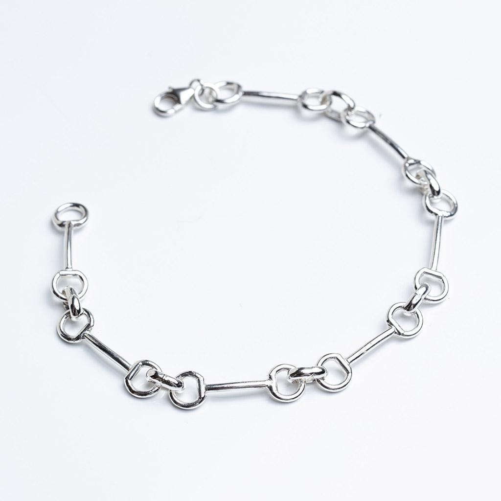 Sterling Silver Snaffle Bracelet