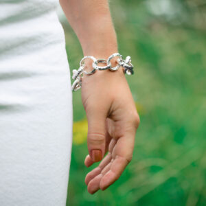 Chunky belcher chain bracelet textured Jane orton