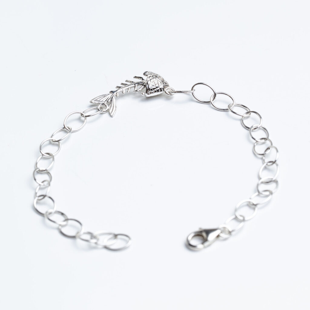 Silver Bracelet with a fish