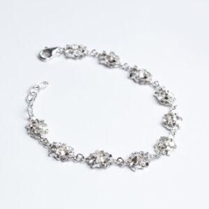 Sterling silver links made up of cubes forming bracelet