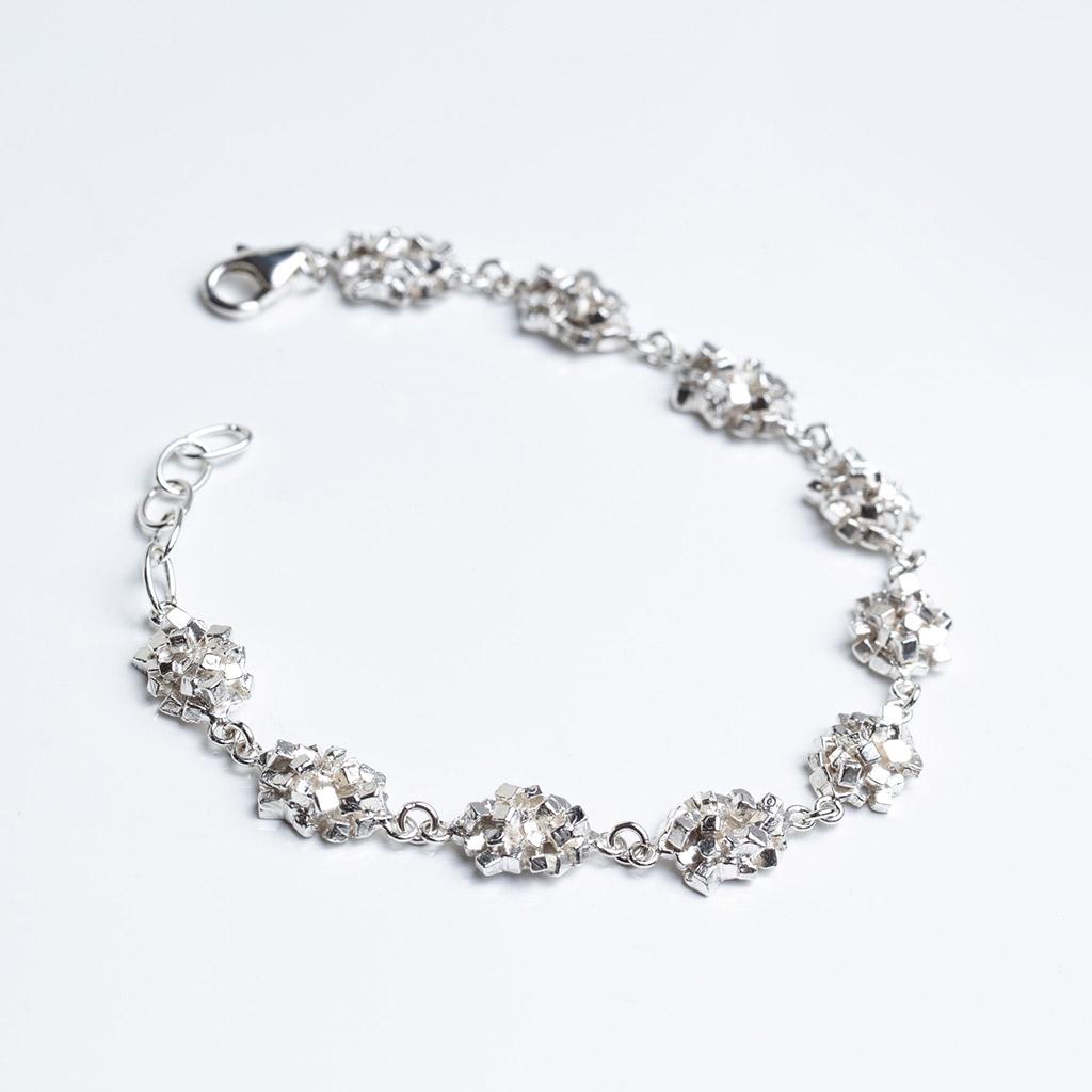 Cube silver bracelet