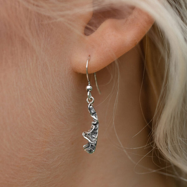 Sterling Silver Quince textured dangle Earrings