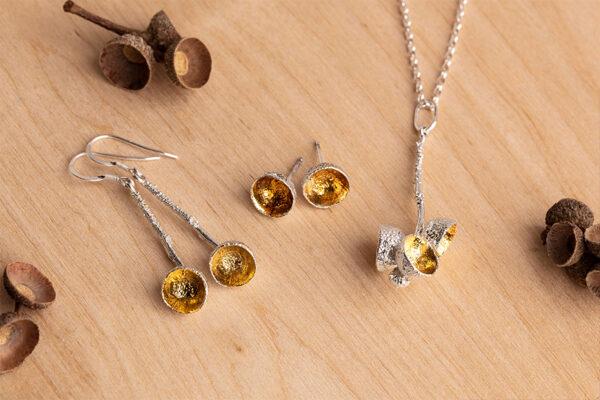 Acorn drop sterling silver jewellery