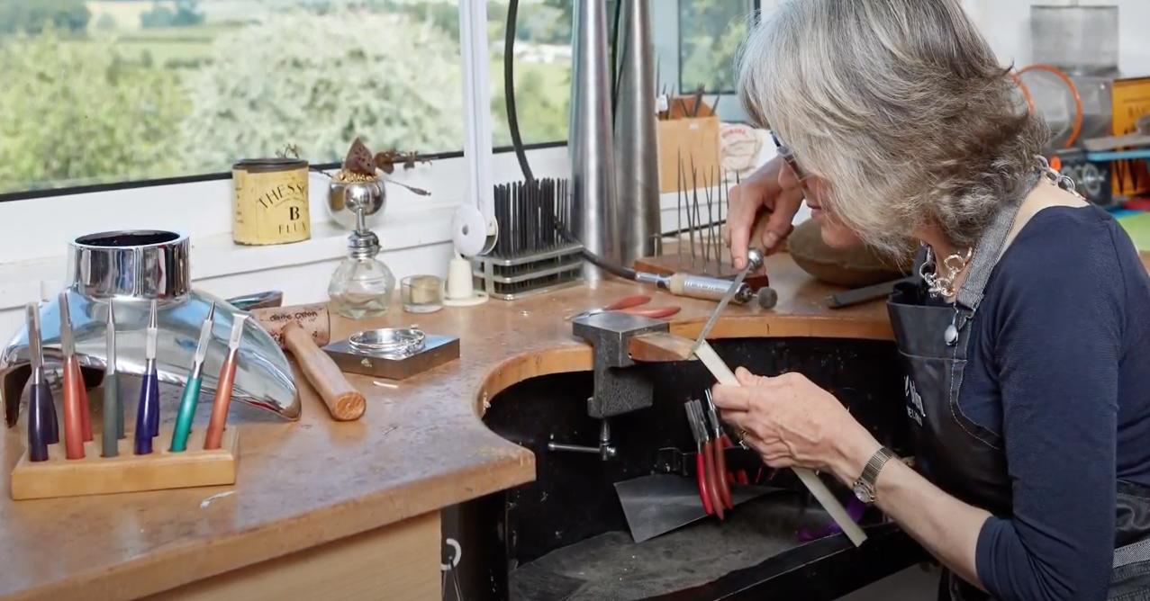 Jane Orton Jewellery work room