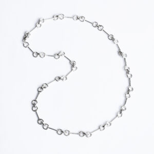 Sterling Silver Snaffle necklace with 20 links Chucky weight