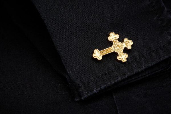 SSC gold vermeil cross