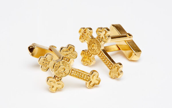 Gold vermeil sterling silver sac cufflinks